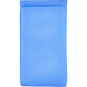 Blue mesh snap sunglasses case
