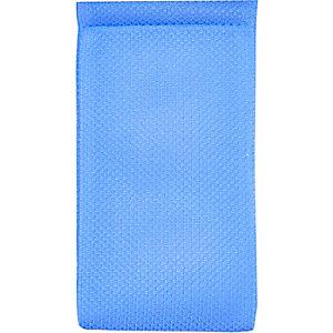 Blue mesh snap sunglasses case