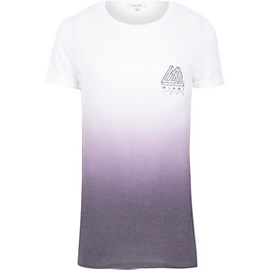 Purple faded Miami print t-shirt