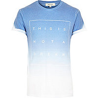 Blue faded not a dream print t-shirt