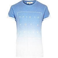 Blue faded not a dream print t-shirt