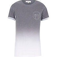 Grey faded NYC print t-shirt