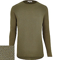 Green textured jumper