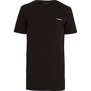 Black Antioch longer length t-shirt