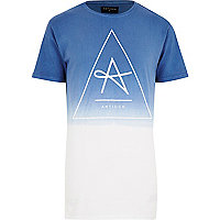 Grey Antioch triangle print dip dye t-shirt