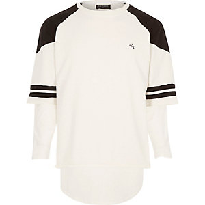 White Antioch short sleeve sweatshirt