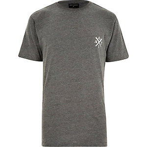 Grey Antioch symbols print t-shirt