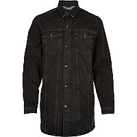 Black Antioch longer length denim jacket