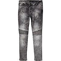 Grey Antioch skinny biker jeans