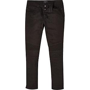 Black Antioch skinny biker jeans