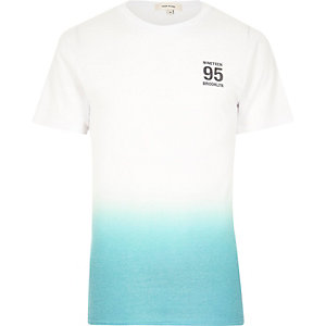 White Brooklyn faded print t-shirt