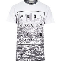 White West Coast life print t-shirt