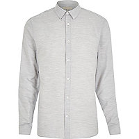 Grey marl mélange long sleeve shirt