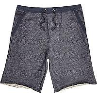 Navy blue loopback shorts