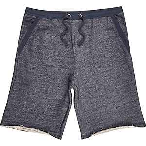 Navy blue loopback shorts