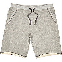 Grey loopback shorts