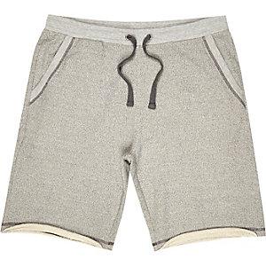 Grey loopback shorts