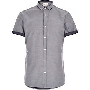 Grey two tone short sleeve shirt
