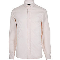 Pink twill long sleeve shirt