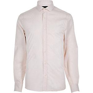 Pink twill long sleeve shirt
