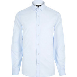 Blue long sleeve formal shirt