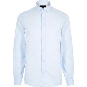 Blue long sleeve formal shirt