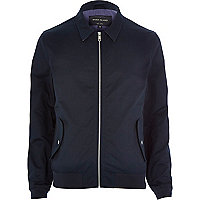 Navy casual harrington jacket