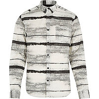 White Only & Sons printed long sleeve shirt