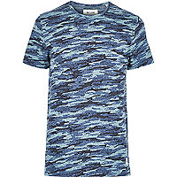 Blue Only & Sons camo print t-shirt