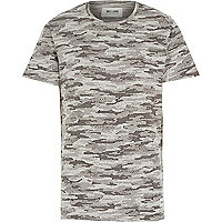 Black Only & Sons camo print t-shirt