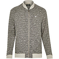 Grey Holloway Road marble jersey jacket