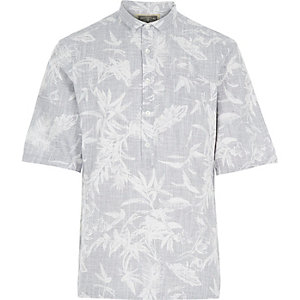 Grey Holloway Road botanical print shirt