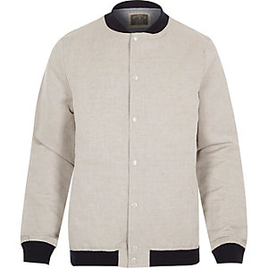 Ecru Holloway Road linen-blend bomber jacket