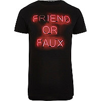 Black Friend or Faux slogan t-shirt