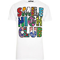 White Friend or Faux smile high club t-shirt