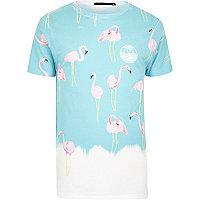 White Friend or Faux flamingo print t-shirt
