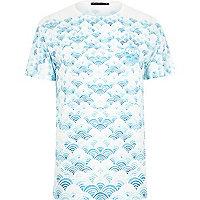 White Friend or Faux cloud print t-shirt