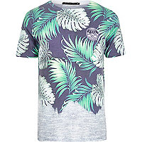 Blue Friend or Faux Amazon print t-shirt