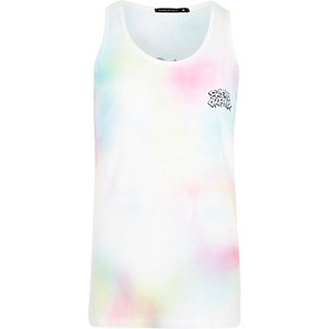 Pink Friend or Faux tie dye vest