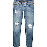 Light wash Sid skinny stretch ripped jeans