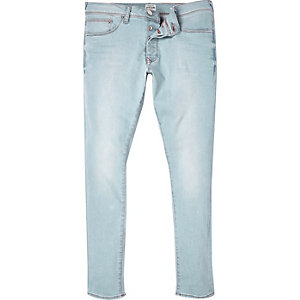 Light wash super skinny jeans
