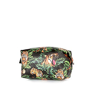Green Mipac jungle print washbag
