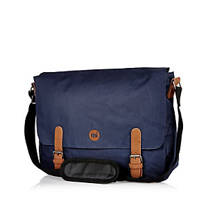Navy Mipac classic messenger bag