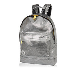 Silver MiPac pebbled backpack