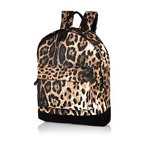Black Mipac animal print backpack