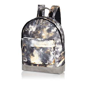 Grey MiPac galaxy print backpack