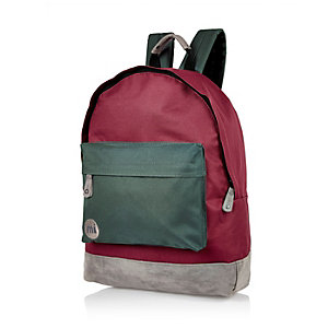 Red Mipac colour block backpack