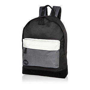 Black Mipac colour block backpack