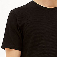 Black dotty textured t-shirt
