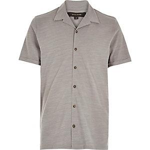 Grey open neck vintage shirt